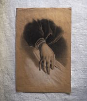 手の素描画 A