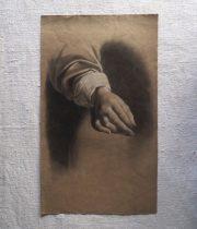 手の素描画 B