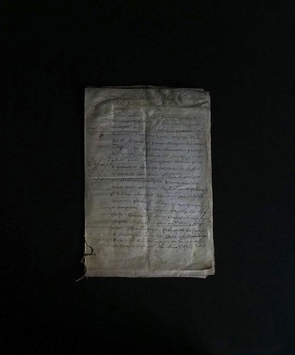 17世紀の羊皮紙に書かれた古文書
