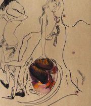 11周年記念 金子國義銅版画『 Metonymie 』2