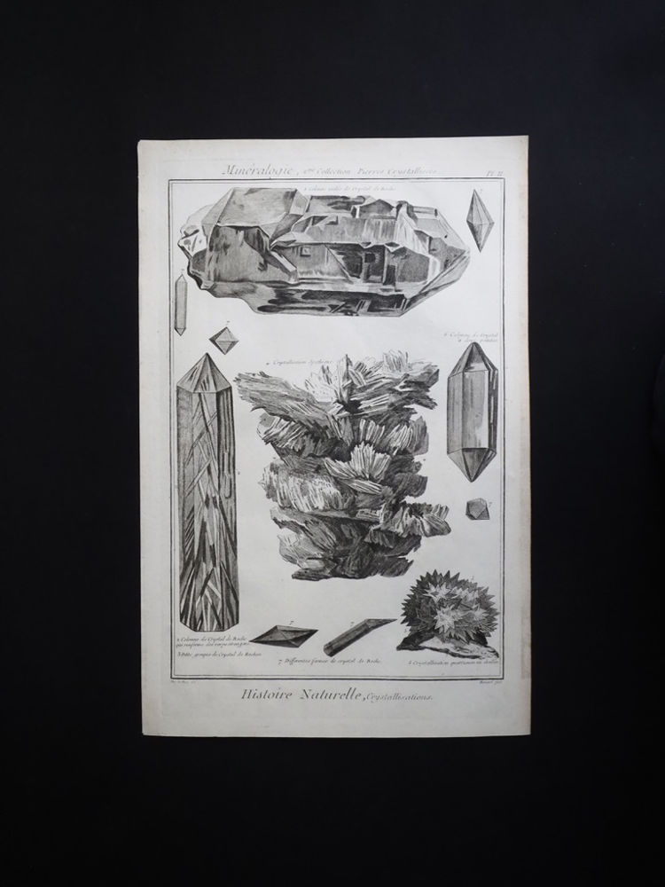 鉱物図版  Histoire Naturelle , Minéralogies 8
