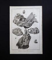 鉱物図版 Histoire Naturelle , Minéralogies 10