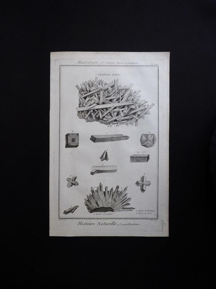 鉱物図版 Histoire Naturelle , Minéralogies 11